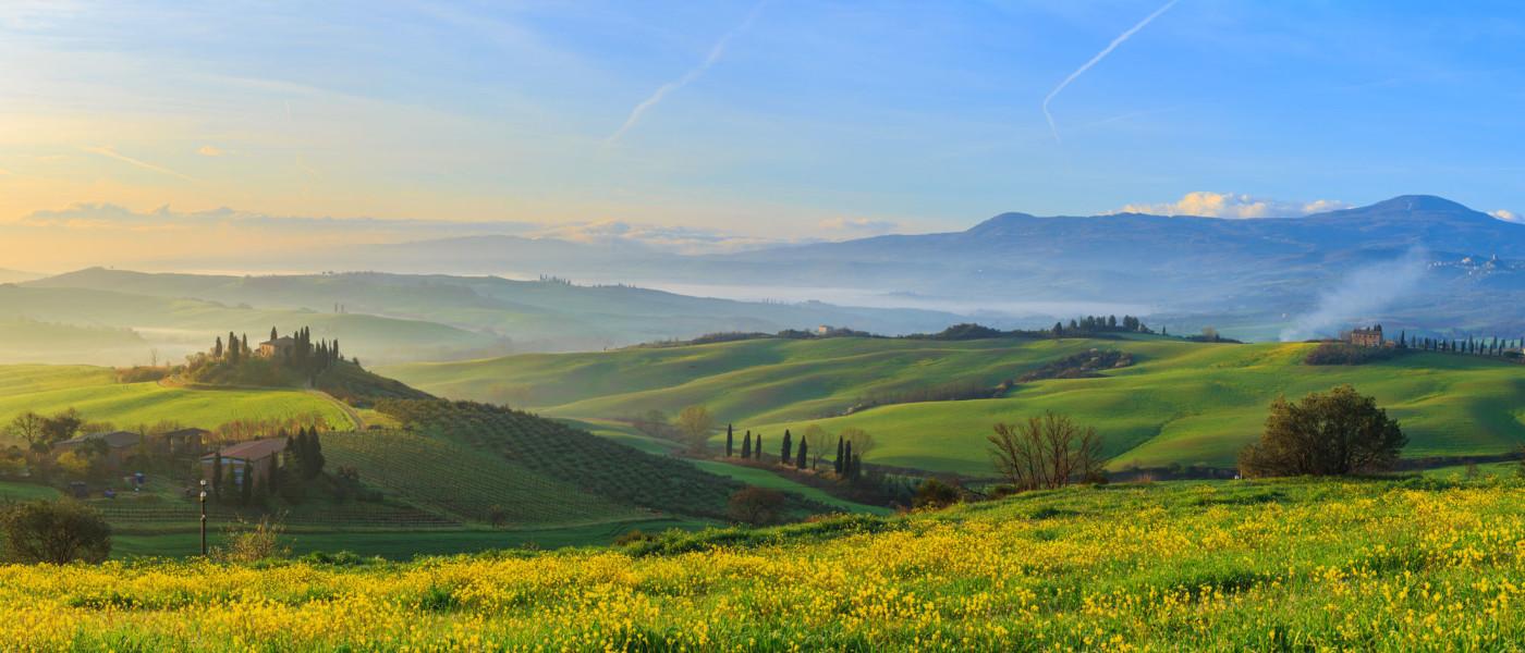 campagna toscana in primavera